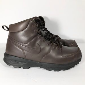 Mens NIKE ACG Brown Leather Hiking Boots Size 10.5